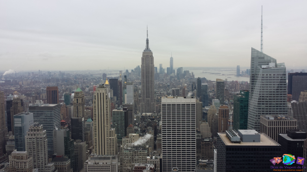Empire State visto pelo Top of the Rock