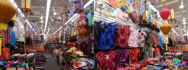 Loja de tecidos e roupas típicas