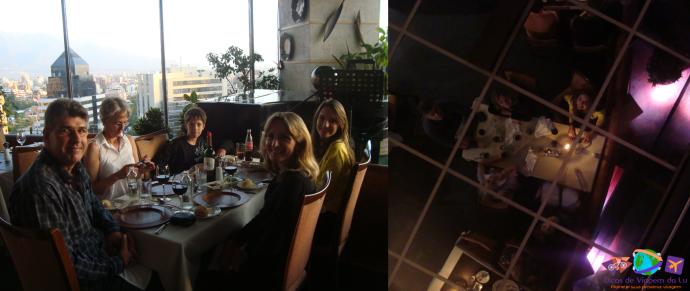 Restaurante de dia e a noite (reflexo do teto de espelho)
