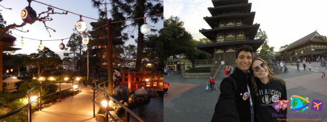 Caminho iluminado / Entrada do Japão