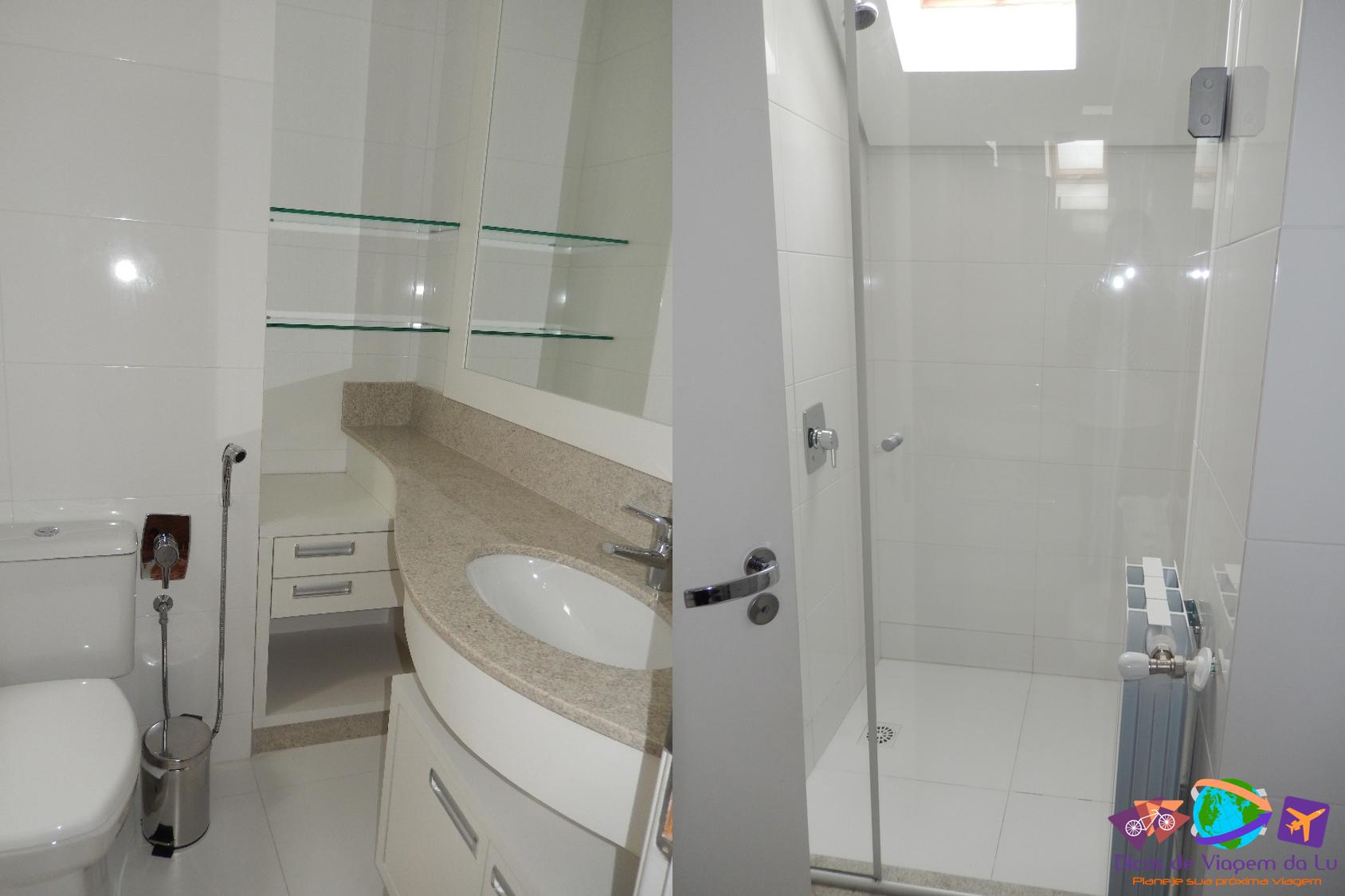 Dica de Hospedagem em Gramado – Apartamento amplo e com ótima  #684182 1688x1125 Banheiro Casal Suite