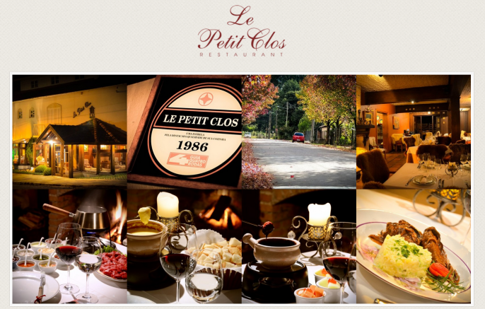 Foto do site Le Petit Clos